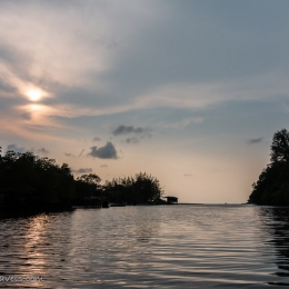 sunset at Mangrove Cruise in Kudat
