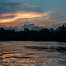 sunset Kinabatangan River
