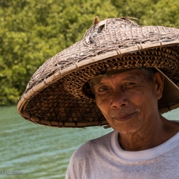 fisherman at the pier in Argao