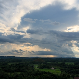 sunset over the chocolate hills - Bohol