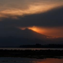Sunrise over Mount Rinjani (Lombok)