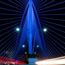 Putrajaya Bridge by night (near Kuala Lumpur)