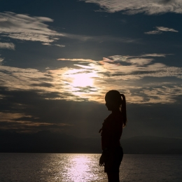 sunset silhouette colour